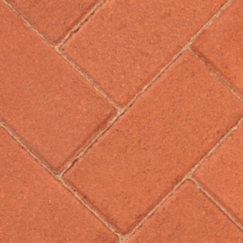 Red - Driveway 50 - Block Paving - Red 200x100x50mm - (488no Per Pack)9.76 m2