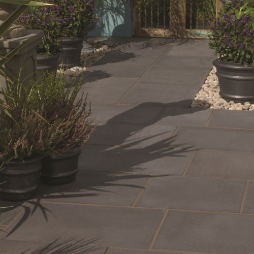 Dark Grey - Aged Riven - Concrete Paving - 450x300x32mm