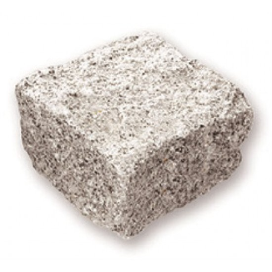 Silver Grey - Natural Granite Setts - Natural Granite - 100x100x50mm