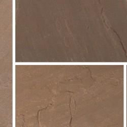Burnt Umber - Blended Natural Sandstone - NaturalStone Ranges - Patio Pack 19.52m2