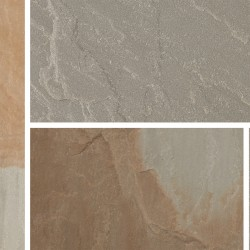 Rustic Grey - Blended Natural Sandstone - NaturalStone Ranges - Patio Pack 19.52m2