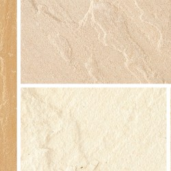 Fossil Buff - Natural Sandstone - NaturalStone Ranges - Full Circle - Large 3300mm Pack