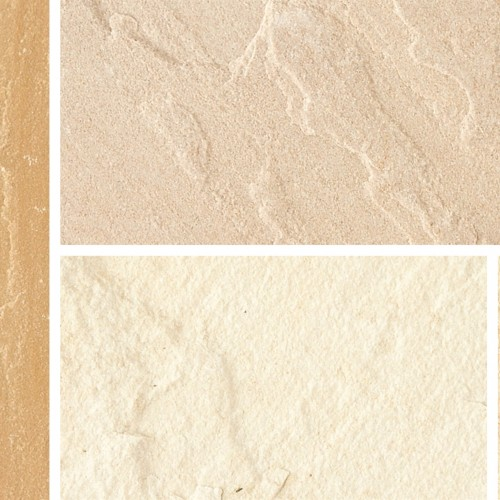 Fossil Buff - Natural Sandstone Setts - Natural Sandstone Fossil Buff