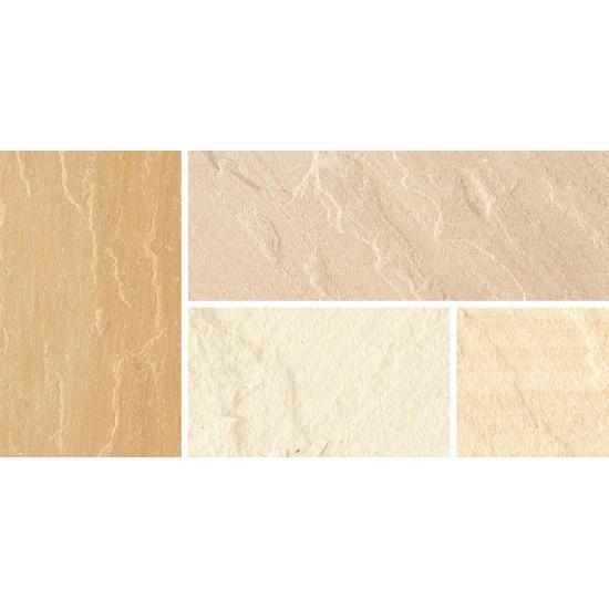 Fossil Buff - Natural Sandstone Setts - Natural Sandstone Fossil Buff