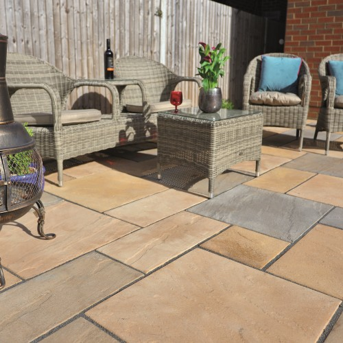 Autumn Cotswold - Old Riven - Concrete Paving - 300x300x35mm Pack 8.36m2