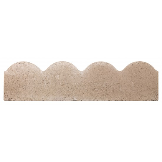 Grey - Scalloped - Landscaping Features - Edging 600x50x150mm