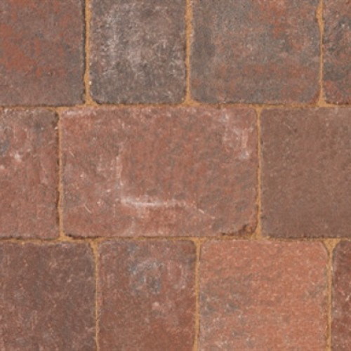 Brindle - Woburn Rumbled - Block Paving - Brindle 200x134x50mm Large (37) - (336no Per Pack)9.05 m2
