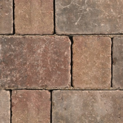 Autumn - Woburn Rumbled Infilta - Block Paving - Autumn 134x134x60mm Medium - (468no Per Pack)8.35 m2