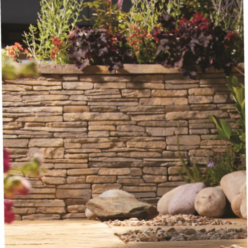 Weathered Cotswold - Madoc Walling Coping - Landscaping Features - Coping 470x130x45mm Pack of 60