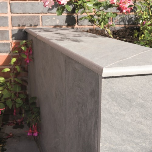 Silver Grey - Mode Profiled Coping - Landscaping Features - 600x300x20 - Pack Size: 3