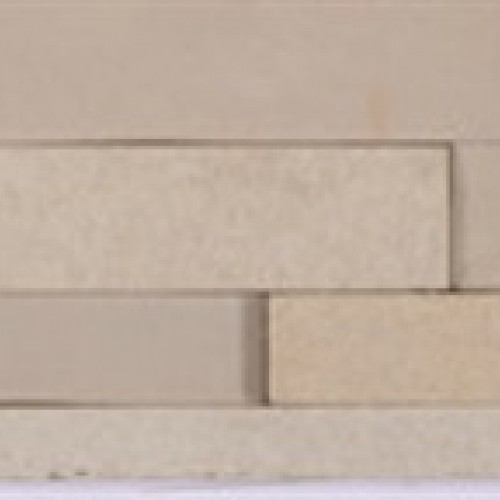 Fossil Buff - Natural Sandstone Walling Slips - Landscaping Features - Slips 650x150x10-20mm Pack of 6