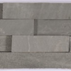 Silver Grey - Natural Sandstone Walling Slips - Landscaping Features - Slips 650x150x10-20mm Pack of 6