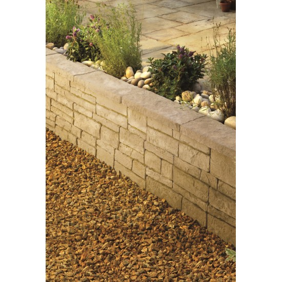 Weathered Limestone - Old Town Walling Full Block - Landscaping Features - Full Block 450x145x130 Pack 3.42m2
