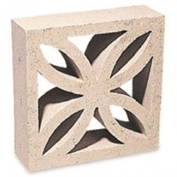 Off White - Screen Walling Leaf Block - Landscaping Features - Leaf Block 290x90x290mm