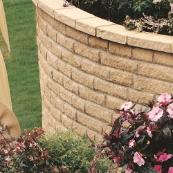 Buff - Pitched Walling - Landscaping Features - Block 215x90x63mm Pack 3.30m2